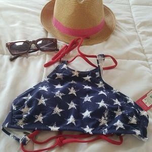 Xhilaration Swim - American flag bikino top